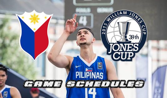 List of Matches Schedules Philippines 2017 Jones Cup
