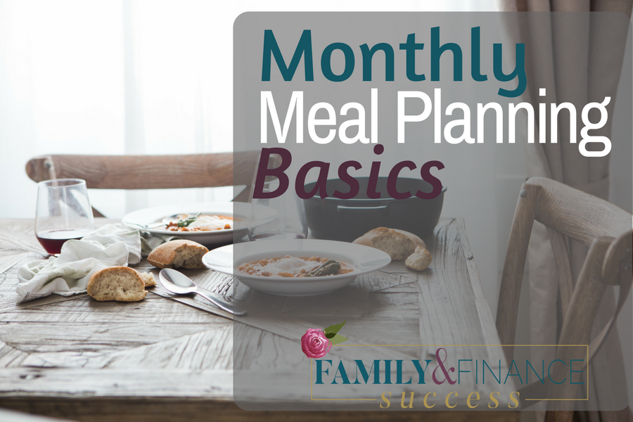 Conquer Meal Planning Once and For All with Monthly Meal Planning