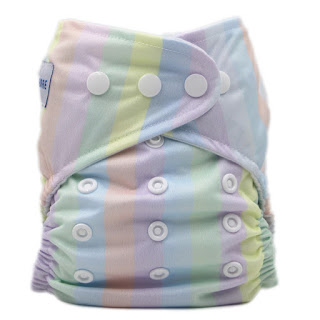 This nappy is PUL. You can see it is smooth and has a slight shine to it.
