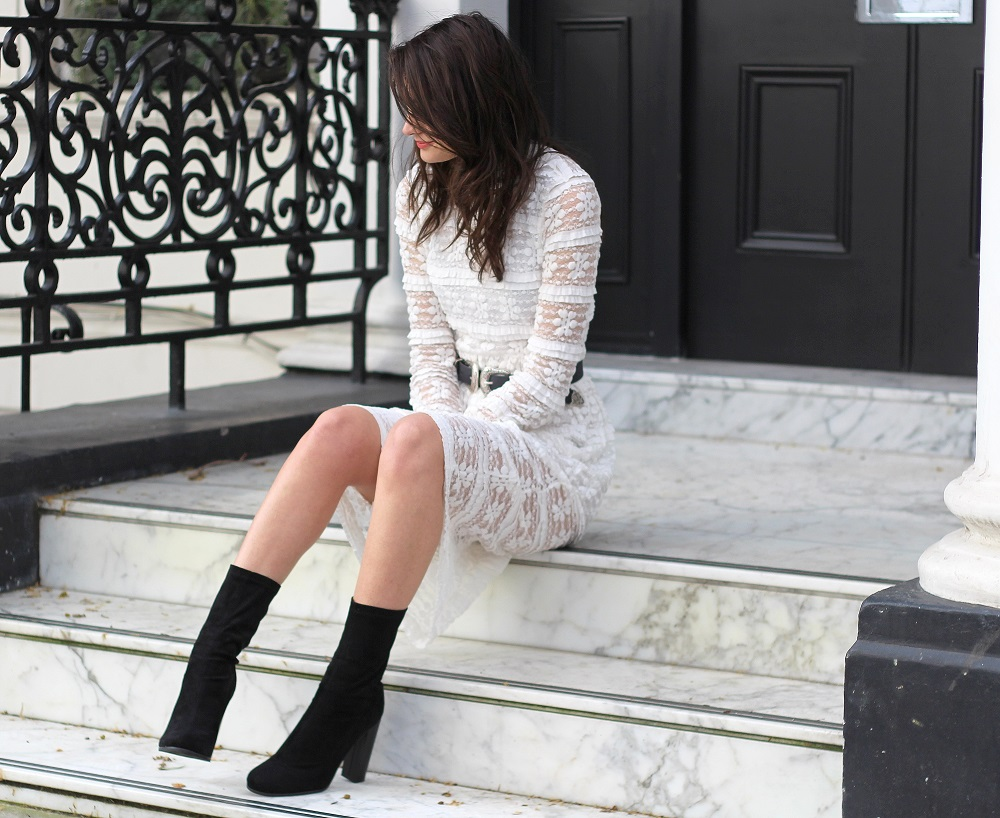 motel lace midi dress peexo blogger