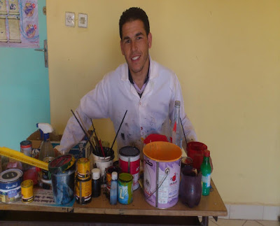 إبداعات فنية للأستاذ بثانوية سيدي الحضري الإعدادية بسوق السبت (المديرية الإقليمية الفقيه بن صالح)