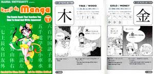 Páginas de exemplo do livro Kanji e Mangá