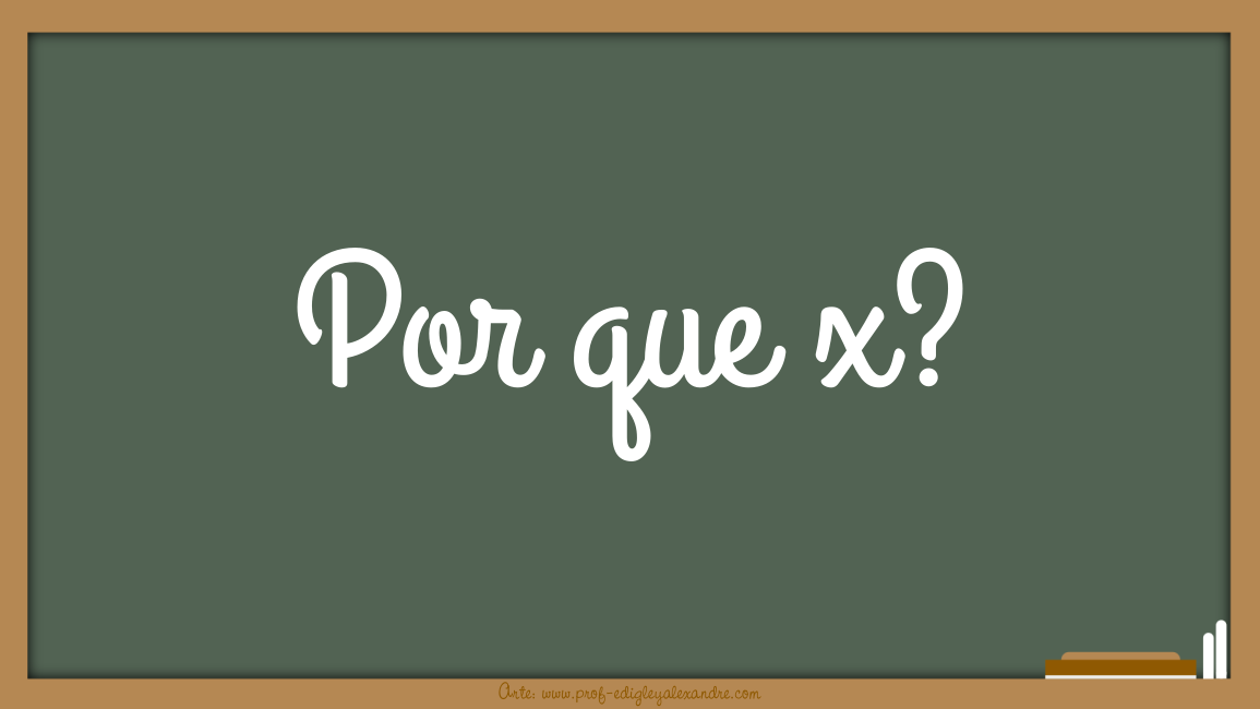 "Por que a letra ""x"" foi a escolhida para representar o desconhecido na Matemática?"