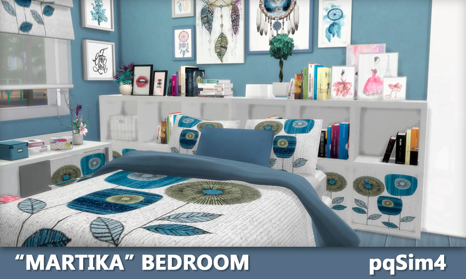 "sims 4 cc's - the best: ""martika"" bedroom by pqsim4, Badezimmer ideen"