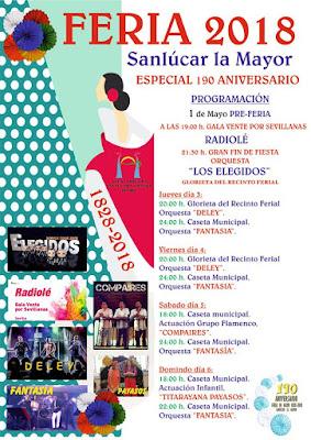Sanlúcar la Mayor - Feria 2018 - Programación