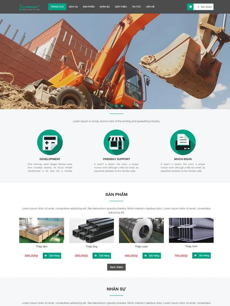 Template blogspot xây dựng kết hợp bán hàng chuẩn seo