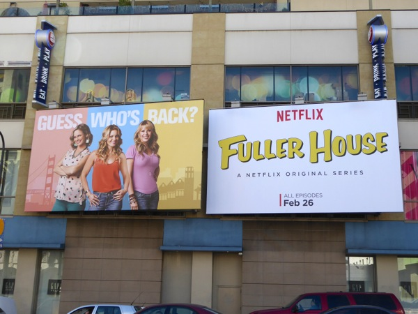 Fuller House series premiere billboards