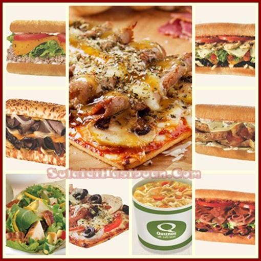 Daftar Harga dan Menu Quiznos Sub [Meksiko – Itali] Terbaru 2017