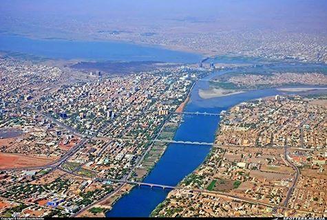 منظر جوي للعاصمة السودانية - النيل