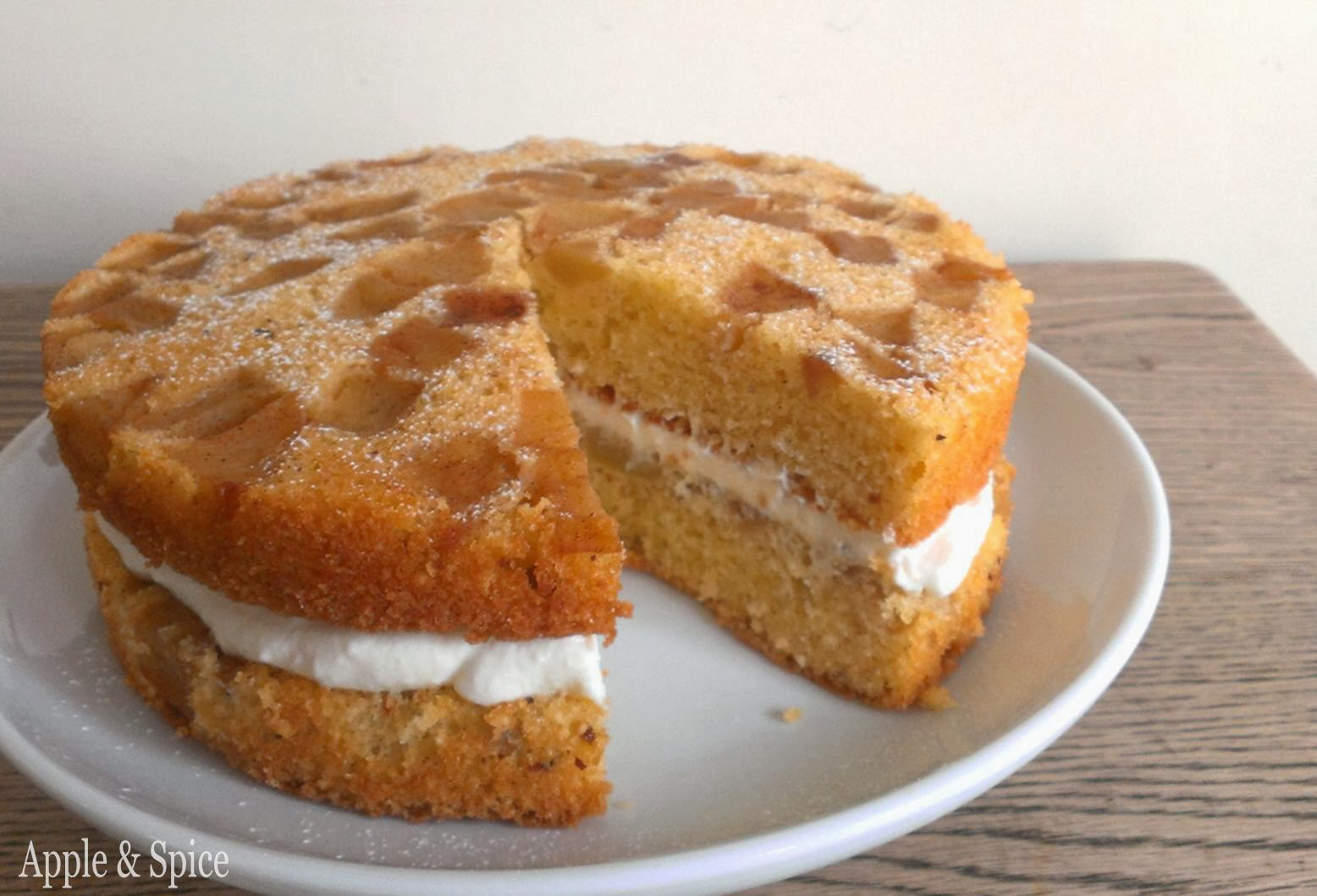 Spiced Stacked Apple Cake