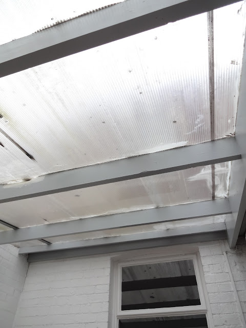 old polycarbonate roof