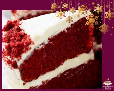 Red Velvet Christmas Tree Cake (inside of the cake)