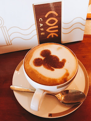 Mickey Latte from the Cove Bar on board Disney Cruise Line's Disney Wonder