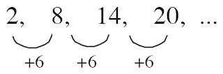 barisan aritmatika beda suku 6