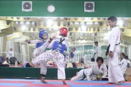 Atlet Taekwondo Gresik Borong Medali Emas di Kejuaraan Antar Pelajar Tingkat Jawa Timur