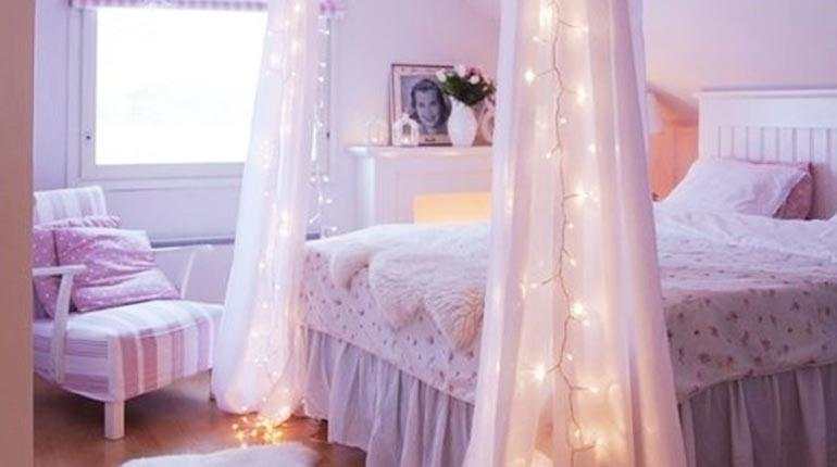 Ideas para decorar tu cuarto con luces aprende a decorar for Como personalizar tu habitacion