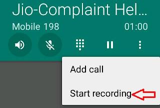 Voice call record
