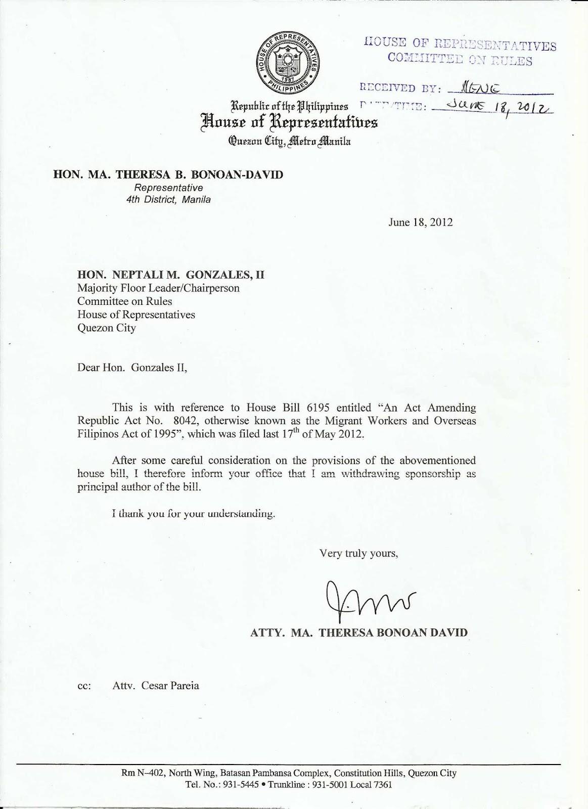 health canada leave application amendment report