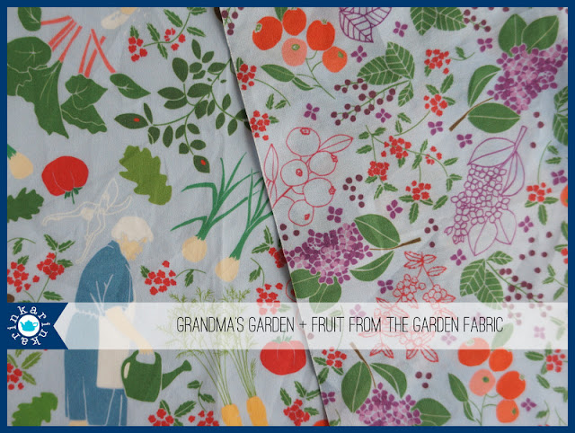 fabric design featuring my grandmother's garden