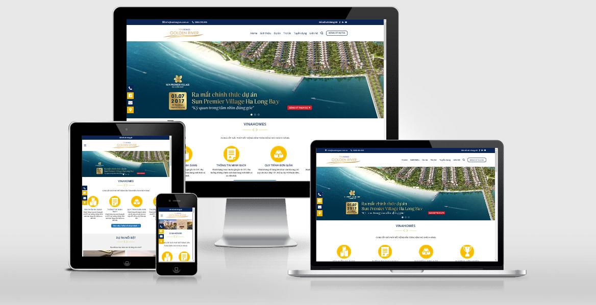 Theme WordPress giới thiệu dự án bất động sản tuyệt đẹp - Mẫu 1