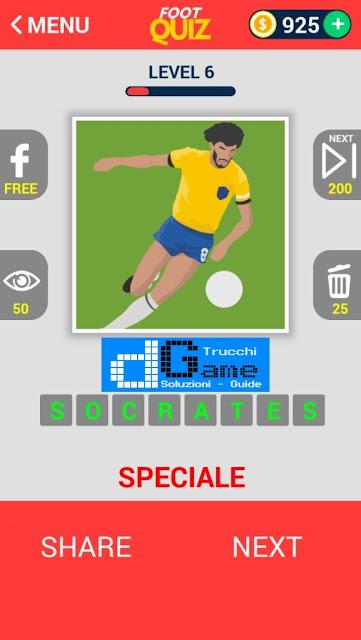 FootQuiz Calcio Quiz Football ( LEGENDS) soluzione livello 1-10
