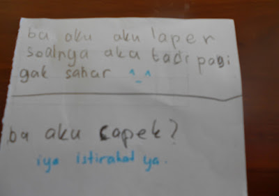 Percakapan via kertas