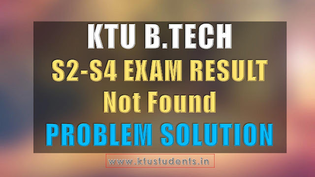 KTU result solution
