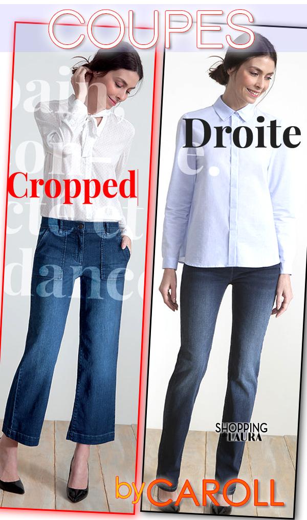 Coupe jeans et pantalons CAROLL femme Cropped et Droite