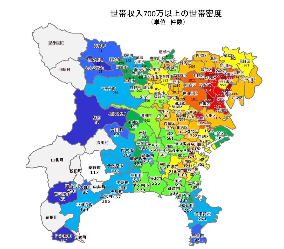 SimpleWays: 市町村ごとの所得の違いがわかる収入マップ(神奈川 ...
