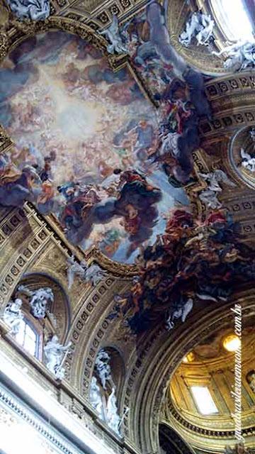 barroco teto igreja jesus guia brasileira roma - Roma Barroca
