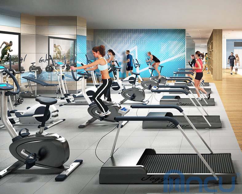 Khu tập Gym hiện đại tại dự án Sky Park Residence Cầu Giấy