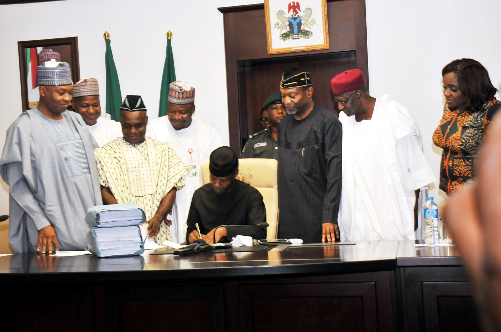 Acting President Osinbajo Signs #Budget2017