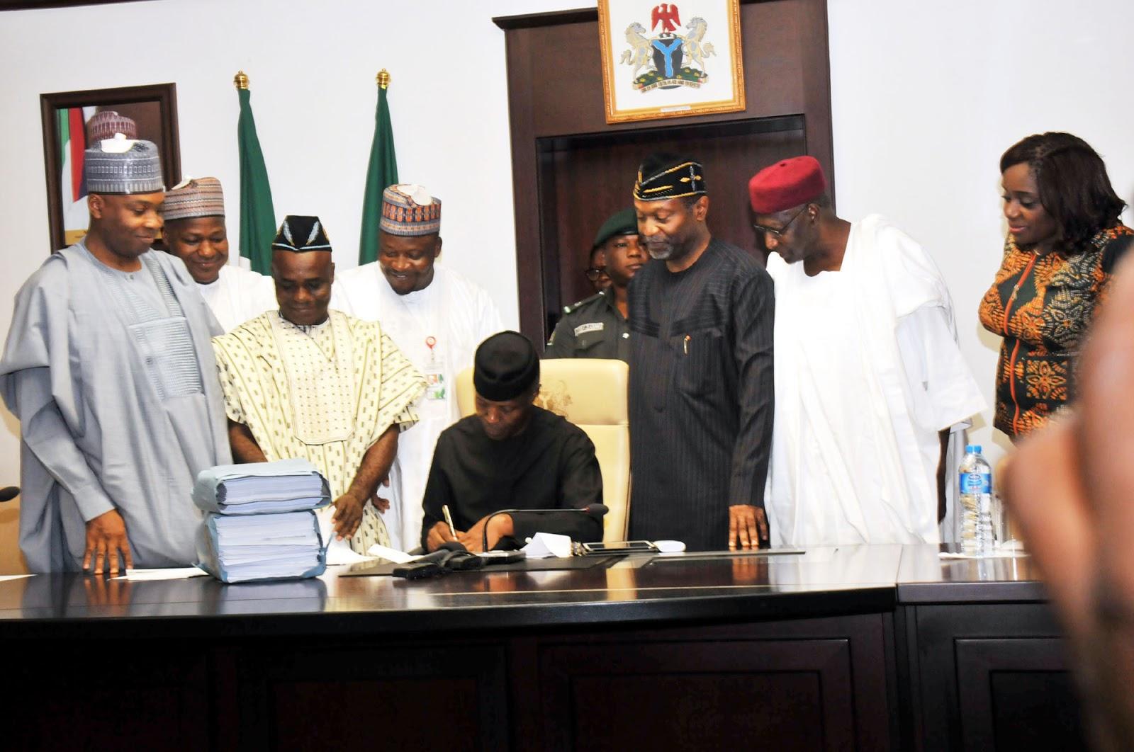 Acting President Osinbajo Signs #Budget2017