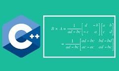 Cara Menentukan Nilai Invers Matriks Menggunakan C++