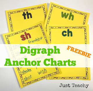 Diagraph Anchor Charts, Freebie