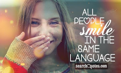 Smile happiness Quotes:all people smile in the same language
