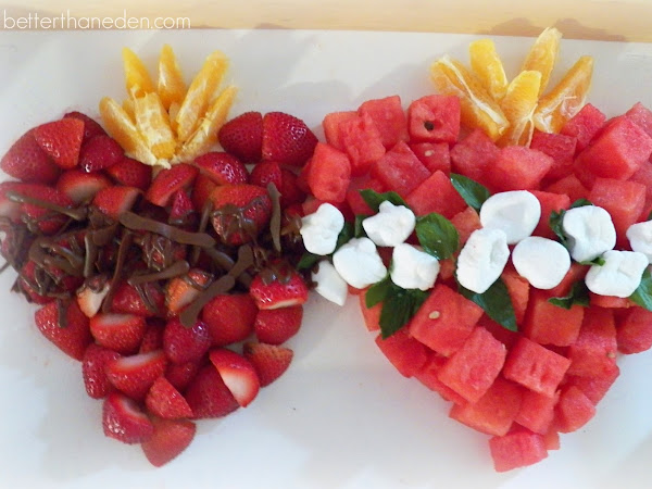 A Fruit Tray Idea for the Sacred and Immaculate Hearts
