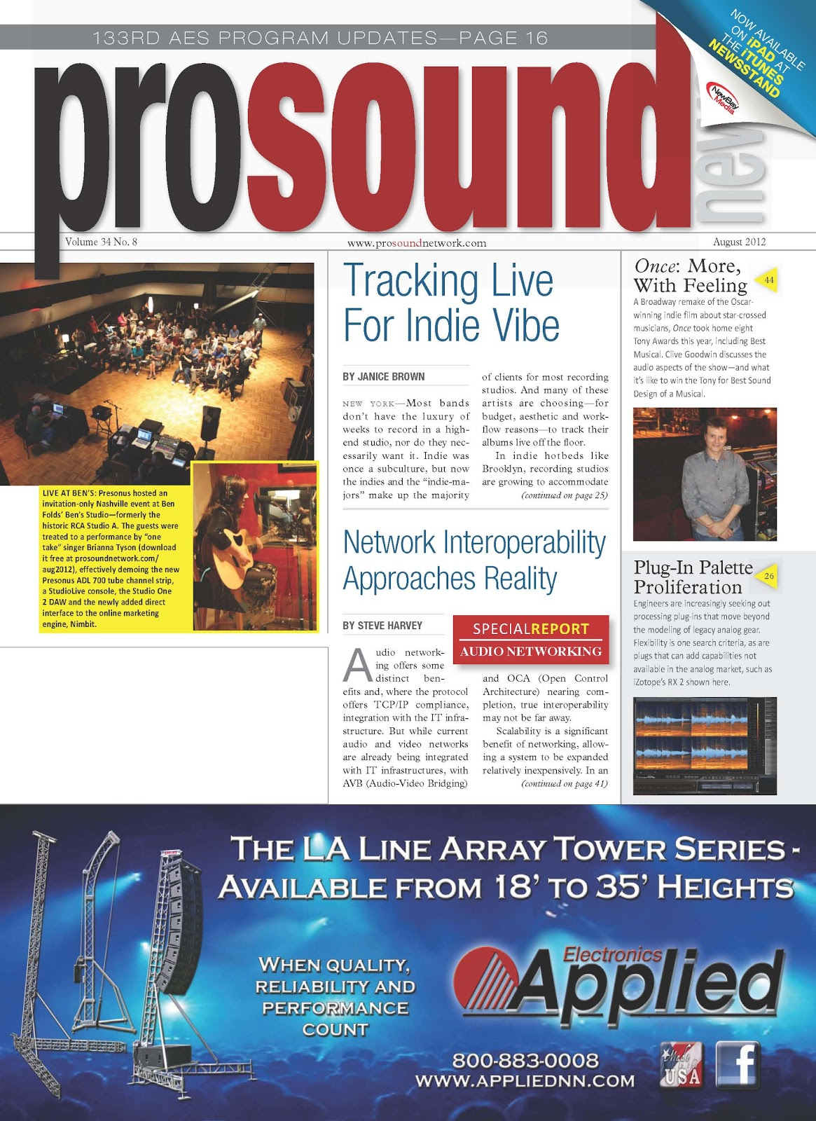 Pick Of The Hits - Soundcraft in Pro Sound News, August 2012