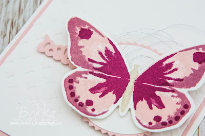 Pretty Pink Butterfly Card For Any Occasion Featuring the Watercolor Wings Stamp Set From Stampin' Up! UK which you can buy here