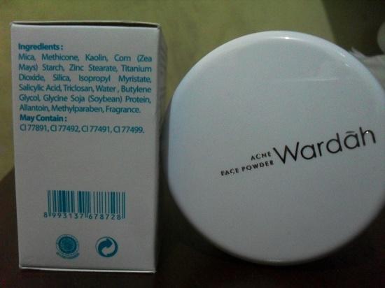 review dan harga Wardah acne face powder