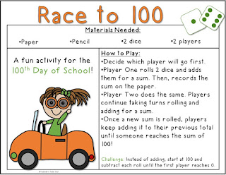 FREE Race to 100 Math Game
