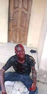 Photos: Two suspected thieves nabbed and beaten to pulp after robbing a lady at gunpoint in Bayelsa