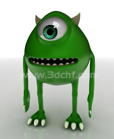 monster inc 3d model