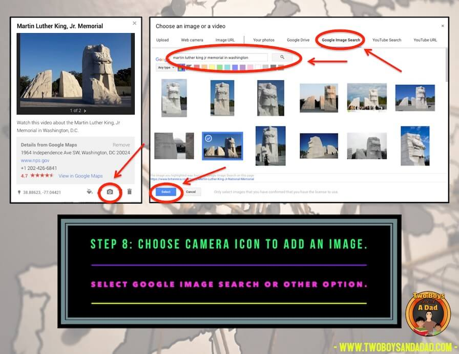 adding images to Google Maps