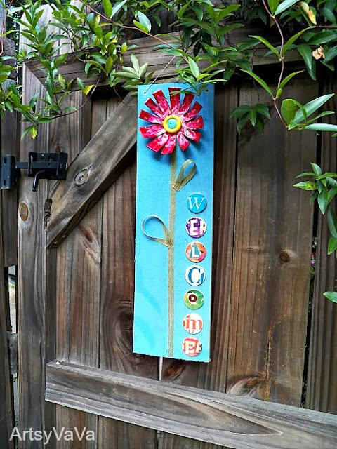 Whimsical Welcom Sign from Artsy VaVa