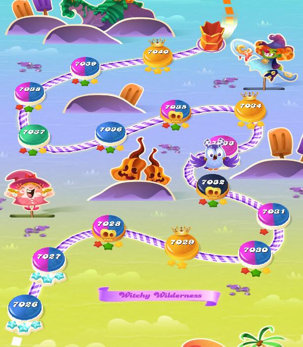 Candy Crush Saga level 7026-7040
