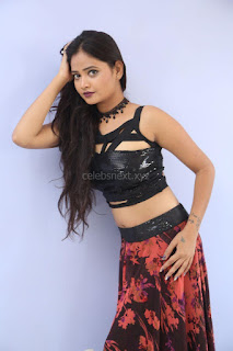 Shriya Vyas in a Tight Backless Sleeveless Crop top and Skirt 68.JPG