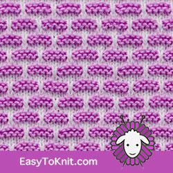 Slip Stitch Knitting 14: Brick | Easy to knit #knittingstitches #knittingpattern
