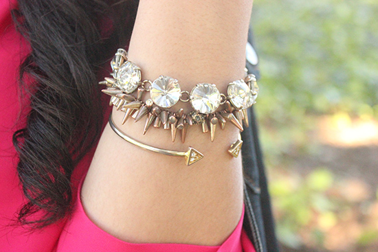 Stacked Gold Bracelets LE TOTE
