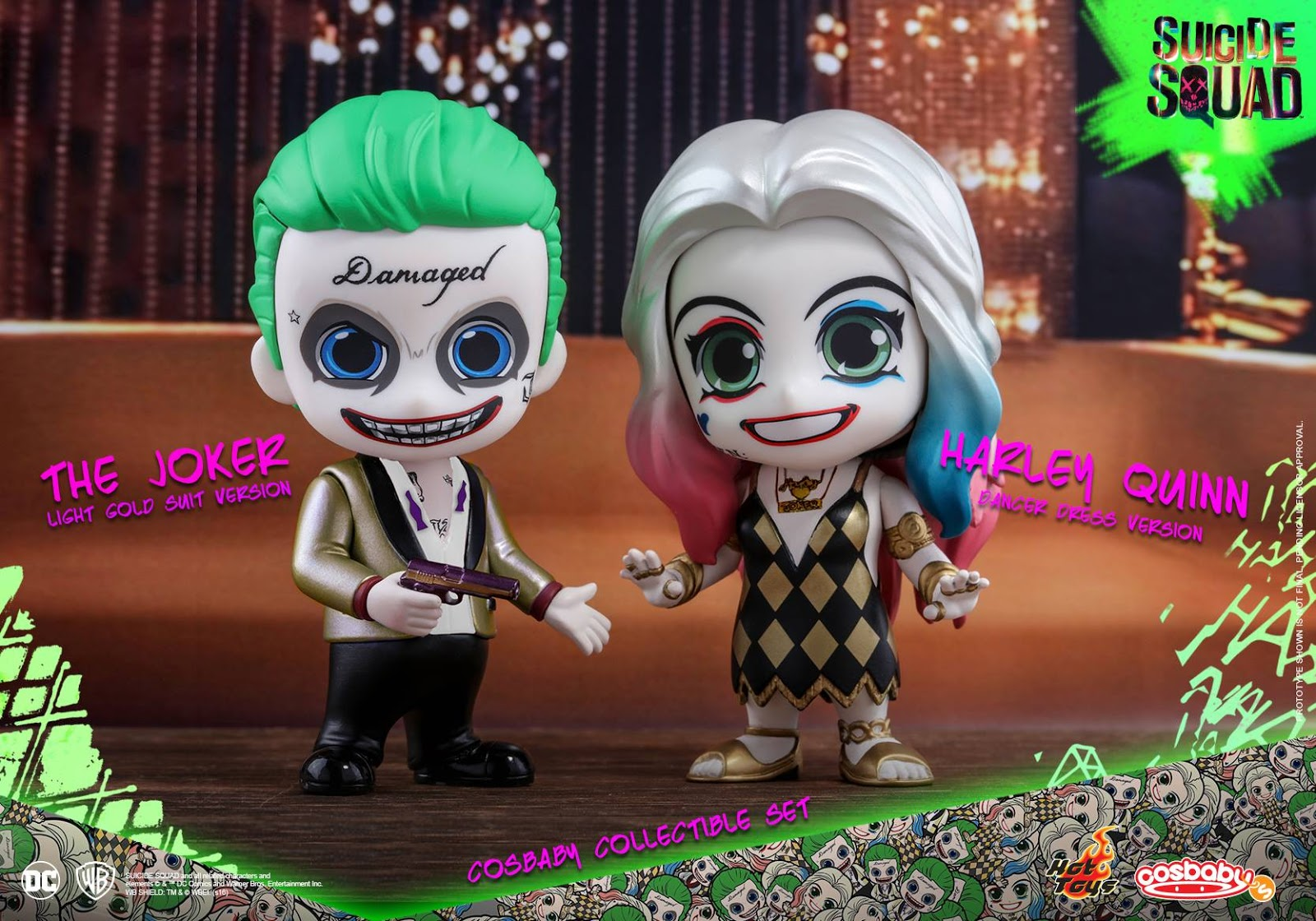 Hot Toys Cosbaby Suicide Squad The joker /& Harley Quinn Series 1 Deadshot katana